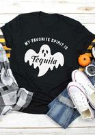 Halloween My Favorite Spirit Is Tequila Boo T-Shirt