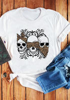 Leopard Skull No Speak No Hear No See T-Shirt