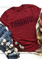 Thanksgiving Letter O-Neck T-Shirt
