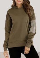 Zipper Pocket Splicing Long Sleeve Hoodie