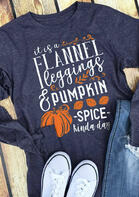 Thanksgiving Pumpkin Spice Leaf Letter T-Shirt