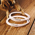 2Pcs Hand-Woven Dual-Layered Leather Rope Bracelet