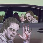 Halloween Horror Bloody Zombie Car Sticker