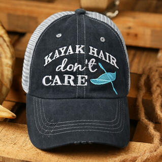 Kayak Hair Don't Care Mesh Criss-Cross Baseball Cap