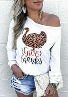 Thanksgiving Leopard Turkey Give Thanks Sweatshirt