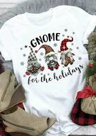 Christmas Leopard Buffalo Plaid Gnome Snowflake T-Shirt