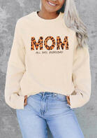 Leopard Mom All Day Everyday Pullover Sweatshirt