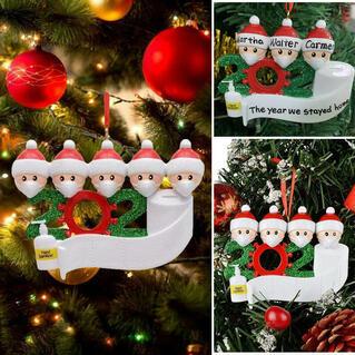 2020 Survivor Family Christmas Tree Hanging Pendant Ornament