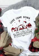 Christmas Buffalo Plaid Love Came Down Graphic T-Shirt