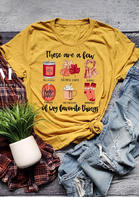 Pumpkin Maple Leaf My Favorite Things Graphic T-Shirt