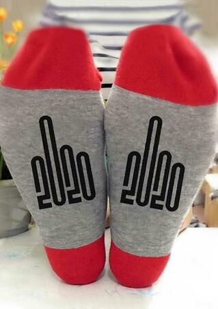 Number Graphic 2020 Warm Socks