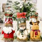 Christmas Santa Claus Snowman Reindeer Wine Bottle Bag