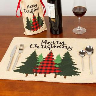 Merry Christmas Truck Gnomies Washable Placemat