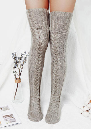 Soft Warm Over Knee Extra Long Knitted Socks