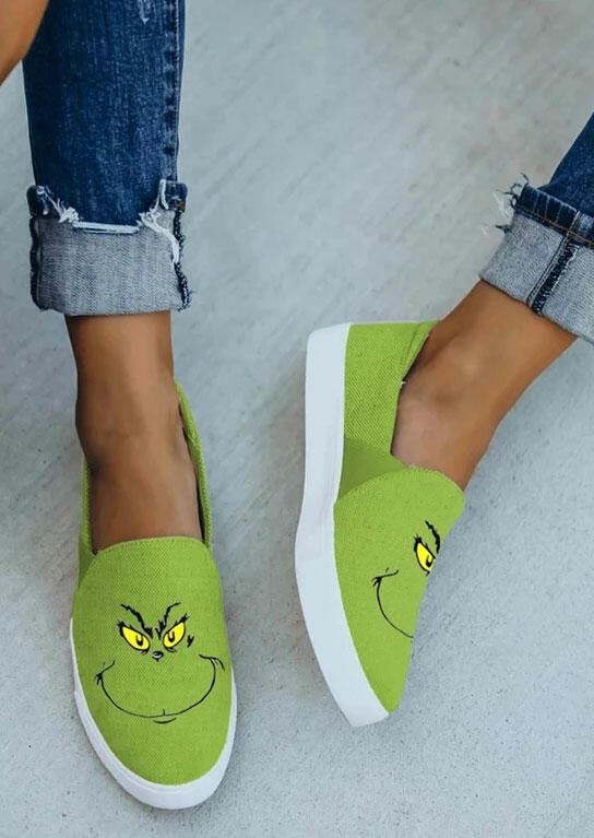 Slip On Flat Sneakers - Green
