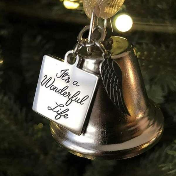It's A Wonderful Life Wing Bell Christmas Tree Hanging Ornament