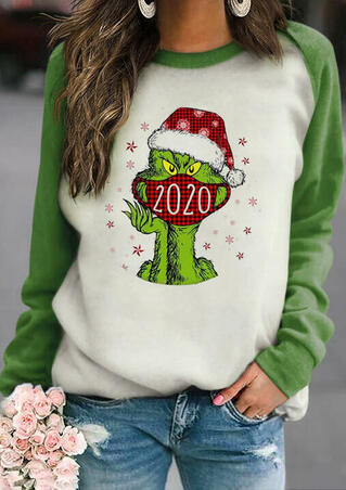 Christmas Snowflake 2020 Grinch Pullover Sweatshirt - Green