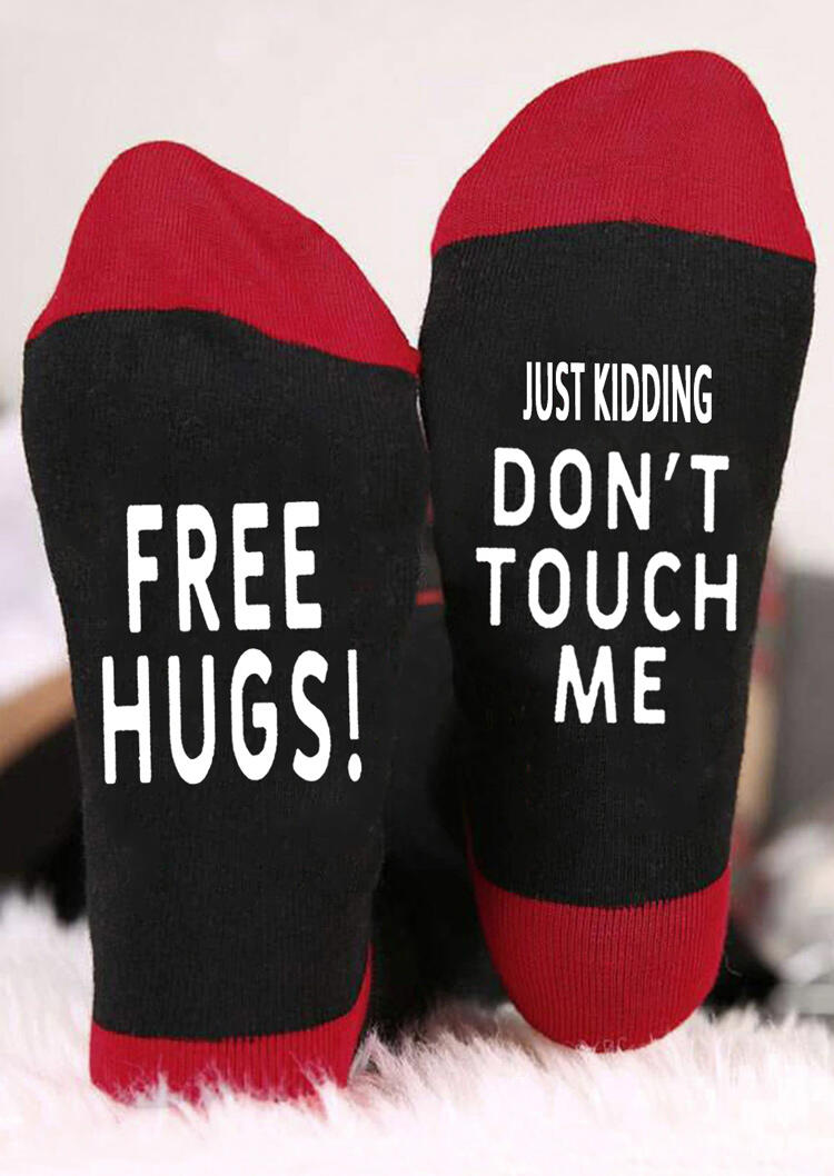 Just Kidding Don't Touch Me Warm Socks