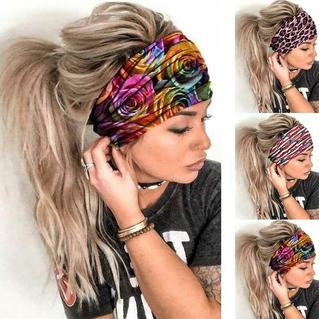 Floral Leopard Striped Casual Wide Headband