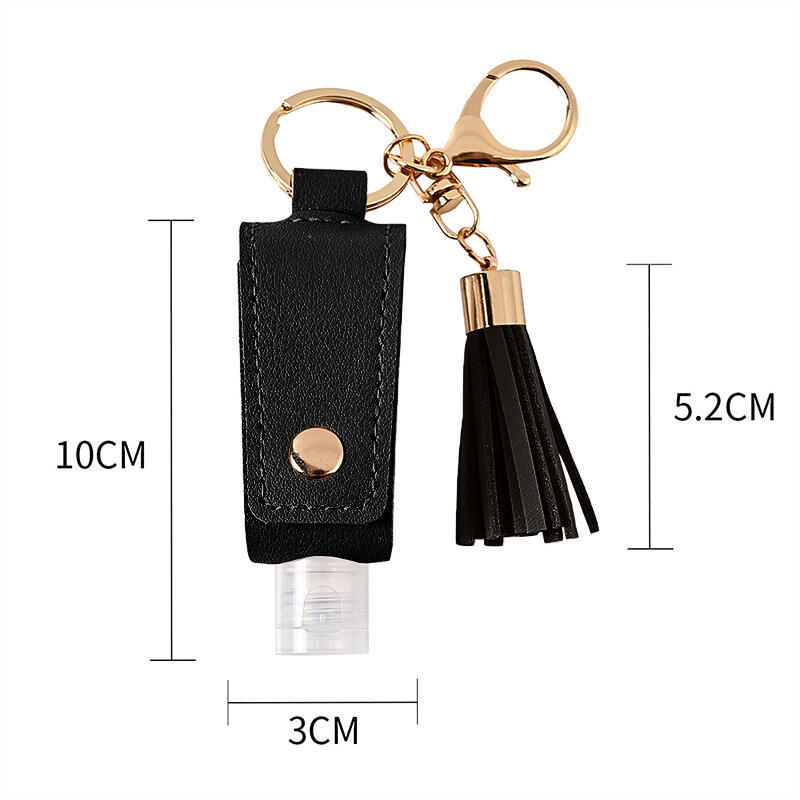 Portable Perfume Bottle Protective Cover Keychain Holder