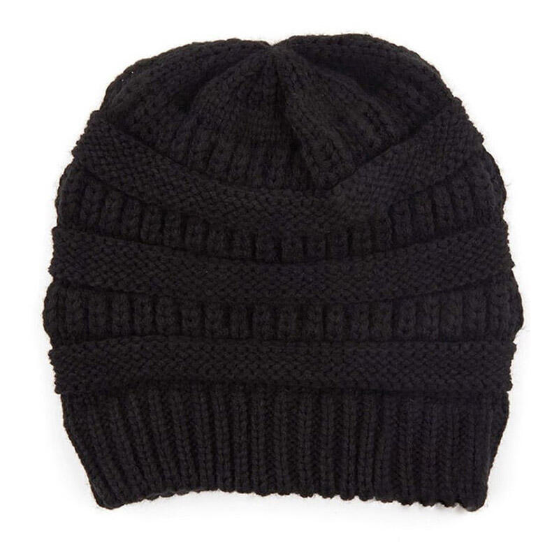 2Pcs Leopard Button Knitted Beanie Hat And Mouth Shield Set
