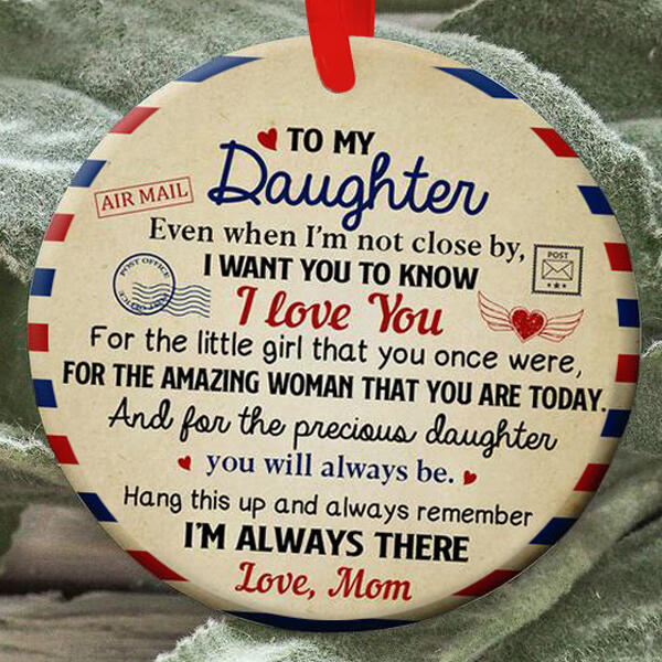 Mom To My Daughter Hanging Ornament