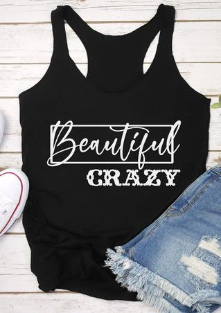 Beautiful Crazy O-Neck Tank - Black