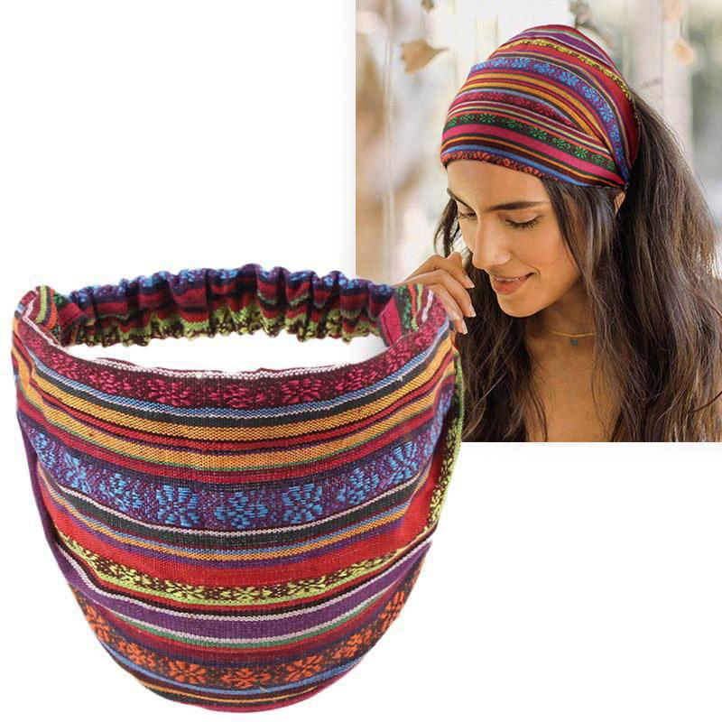 Colorful Striped Casual Wide Headband