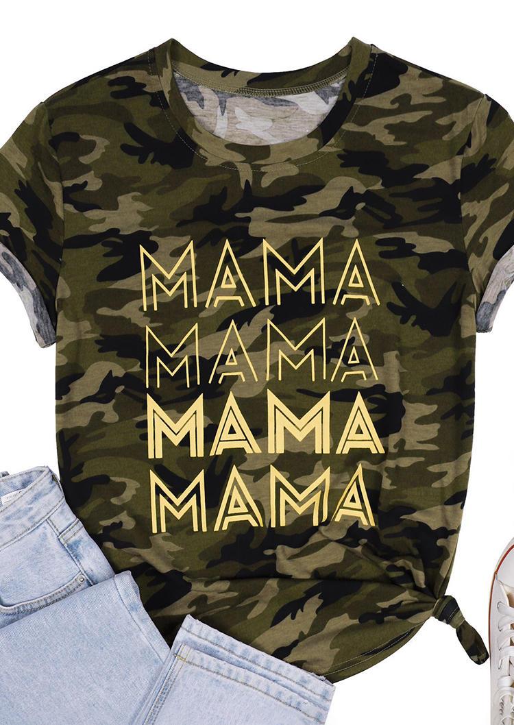 Camouflage Mama O-Neck T-Shirt Tee