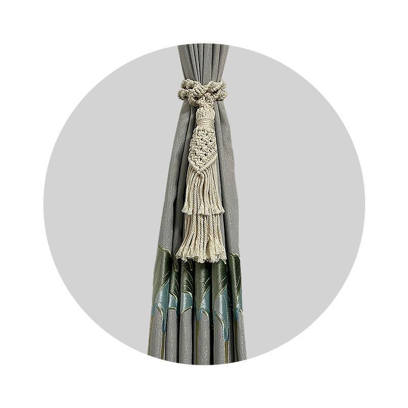 Decorative Tassel Braided Rope Curtain Tieback