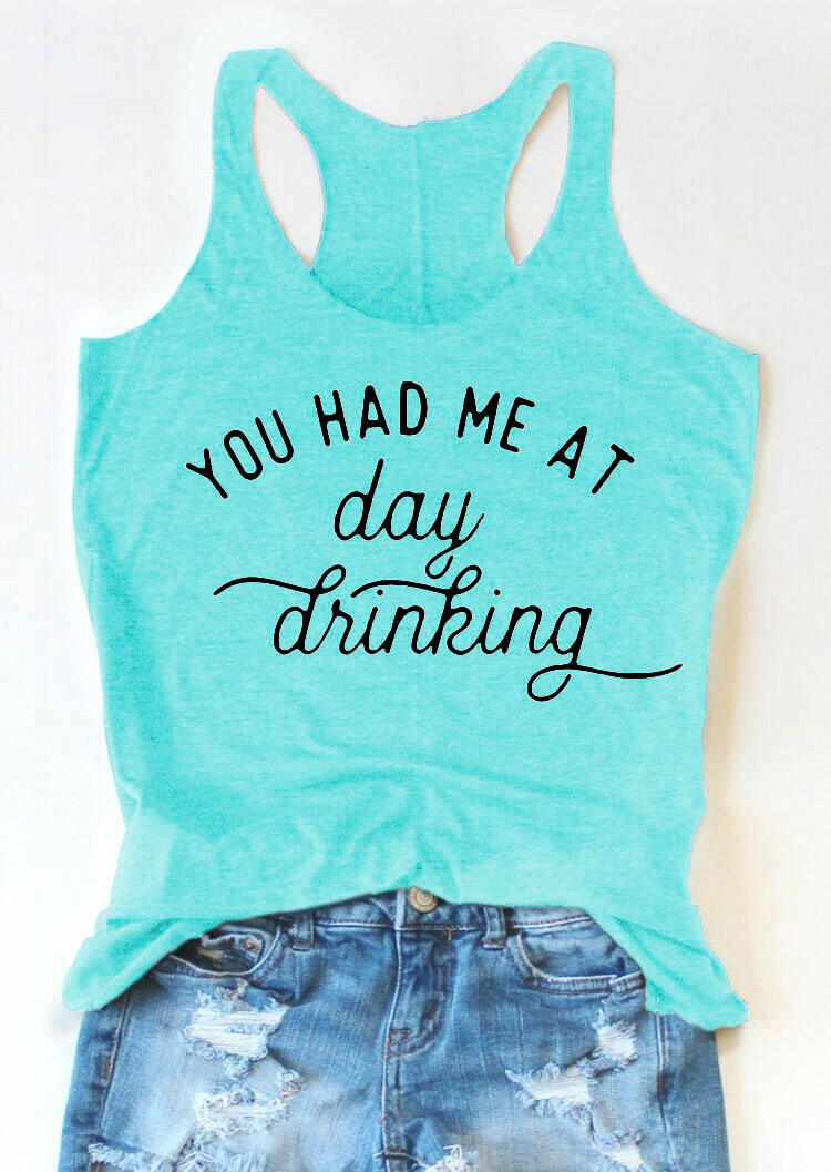 You Had Me At Day Drinking Tank - Burgundy