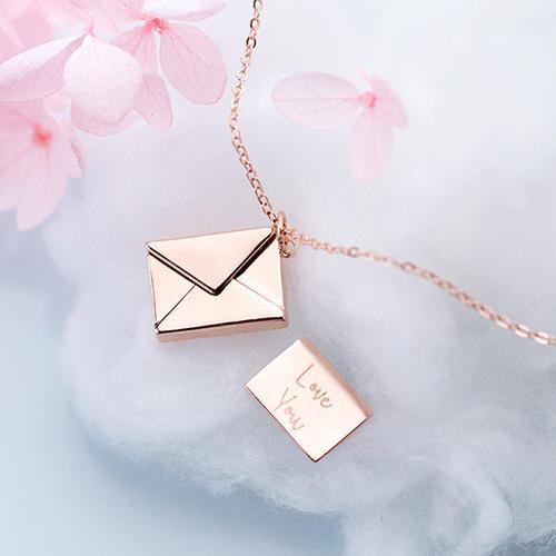 Love Envelope Locket Pendant Necklace