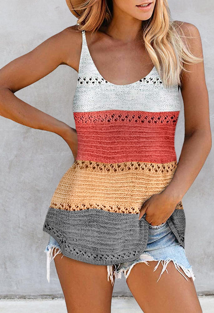 Color Block Hollow Out Camisole