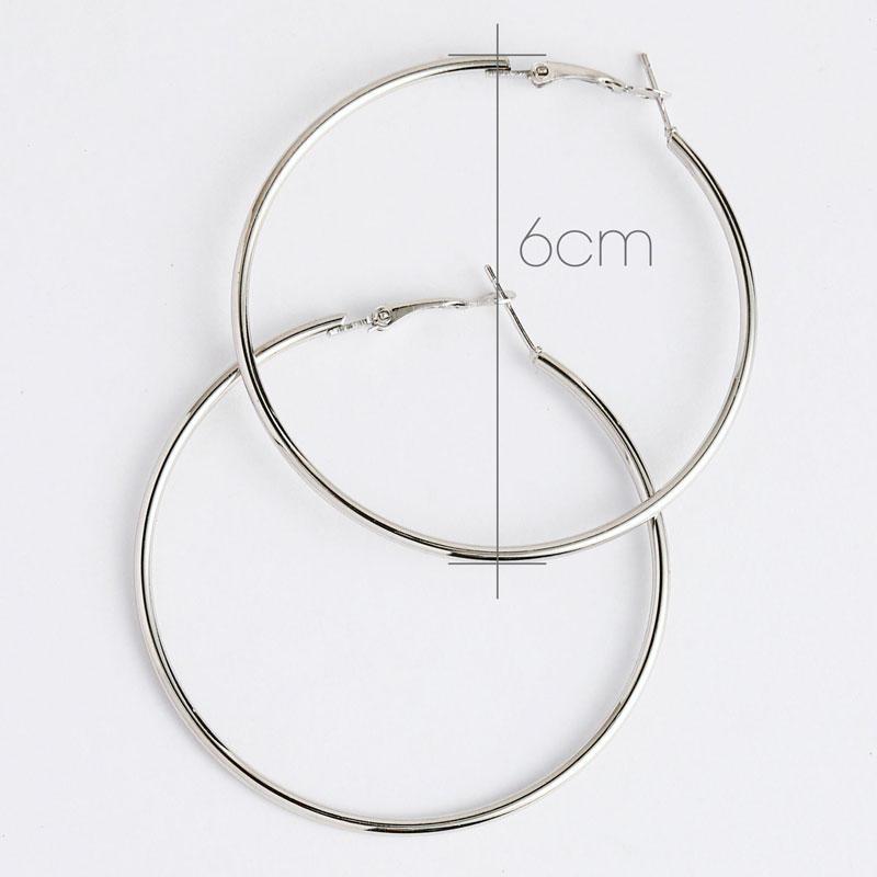 Simple Large Circle Hoop Earrings
