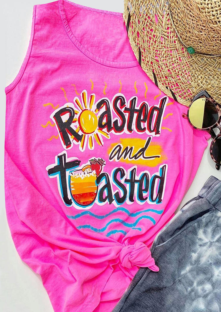 Roasted And Toasted Sunday Drink Tank - Rose Red