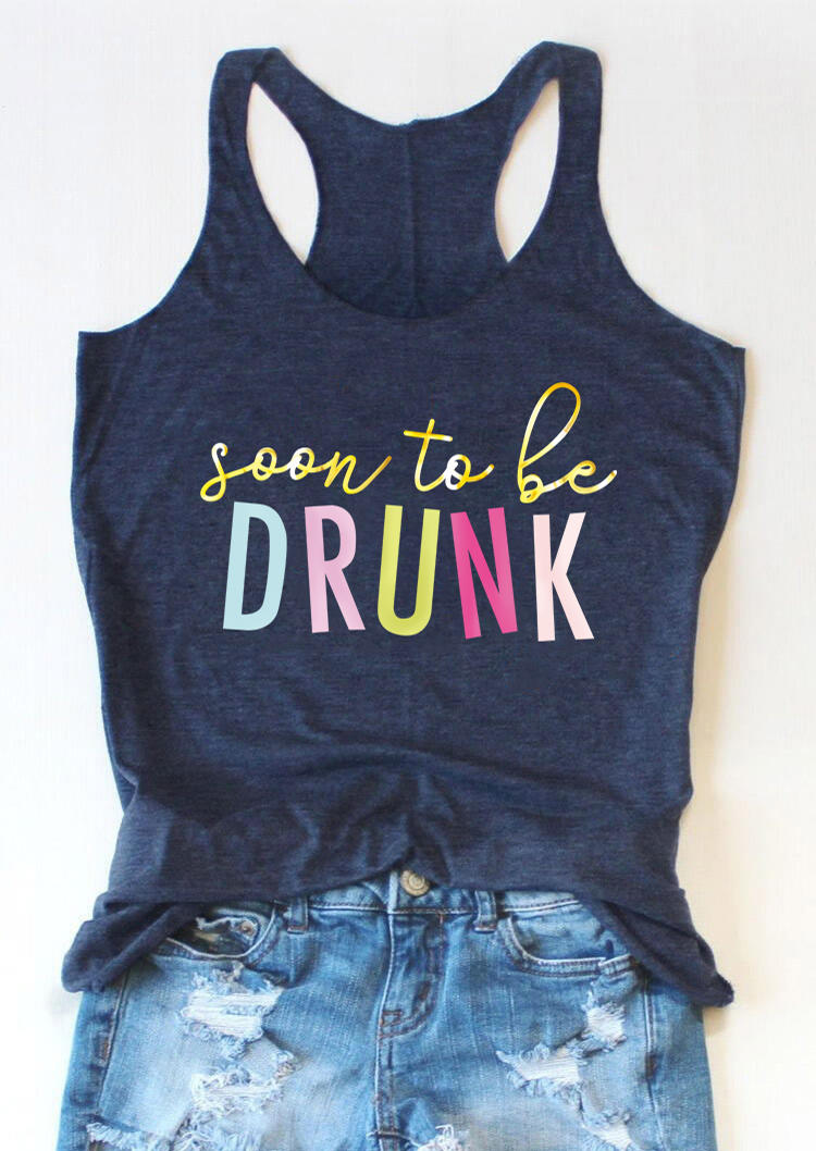 Soon To Be Drunk Casual Tank - Navy Blue