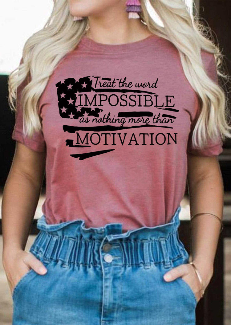 Nothing More Than Motivaion T-Shirt Tee - Cameo Brown