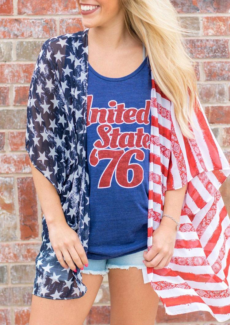 American Flag Star Striped Cardigan