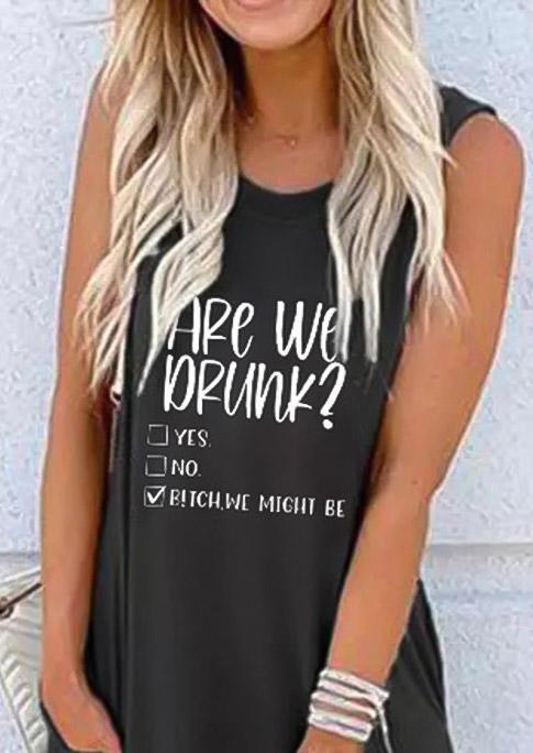 Are We Drunk Pocket Sleeveless Maxi Dress - Dark Grey