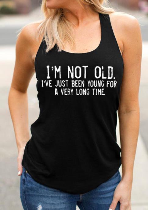 I'm Not Old Racerback Tank - Black