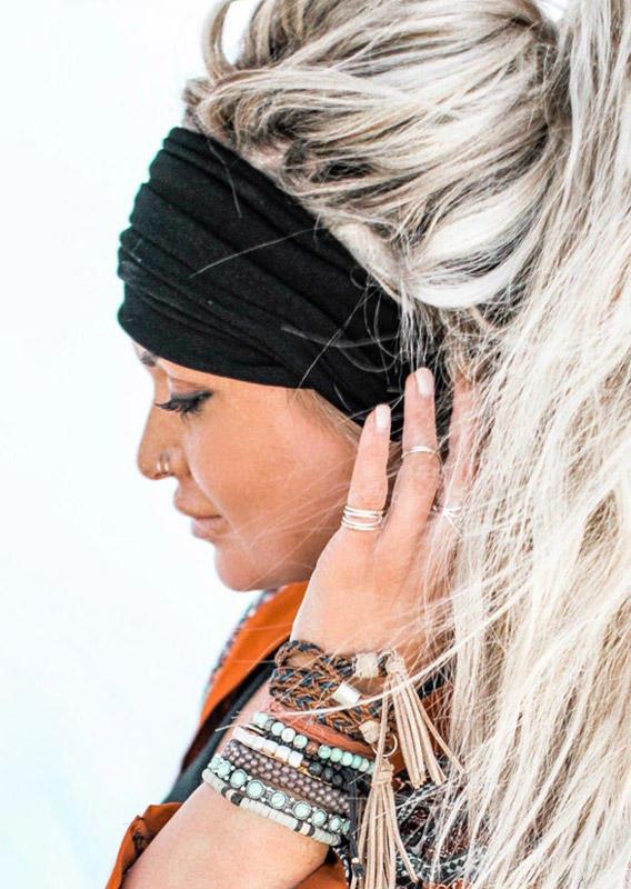 Stretch Elastic Yoga Sports Wide Headband