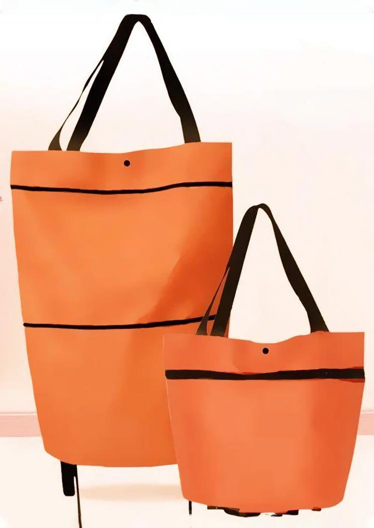 Foldable Reusable Rolling Shopping Bag