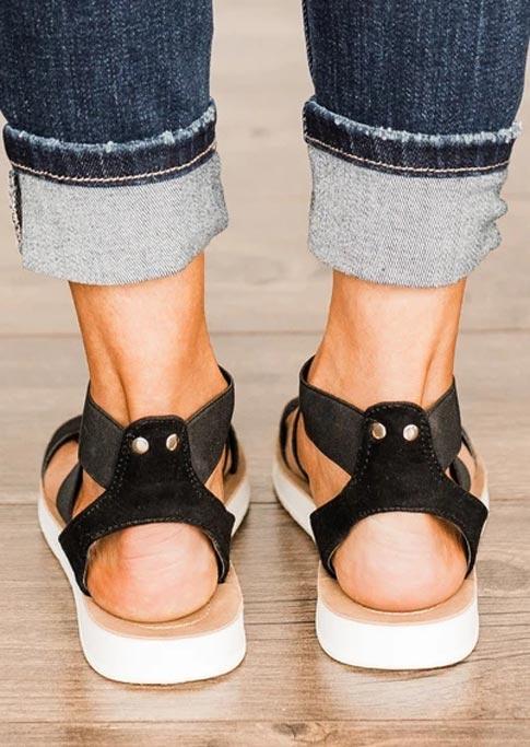 Summer Cross Ankle Strap Slip-On Flat Sandals
