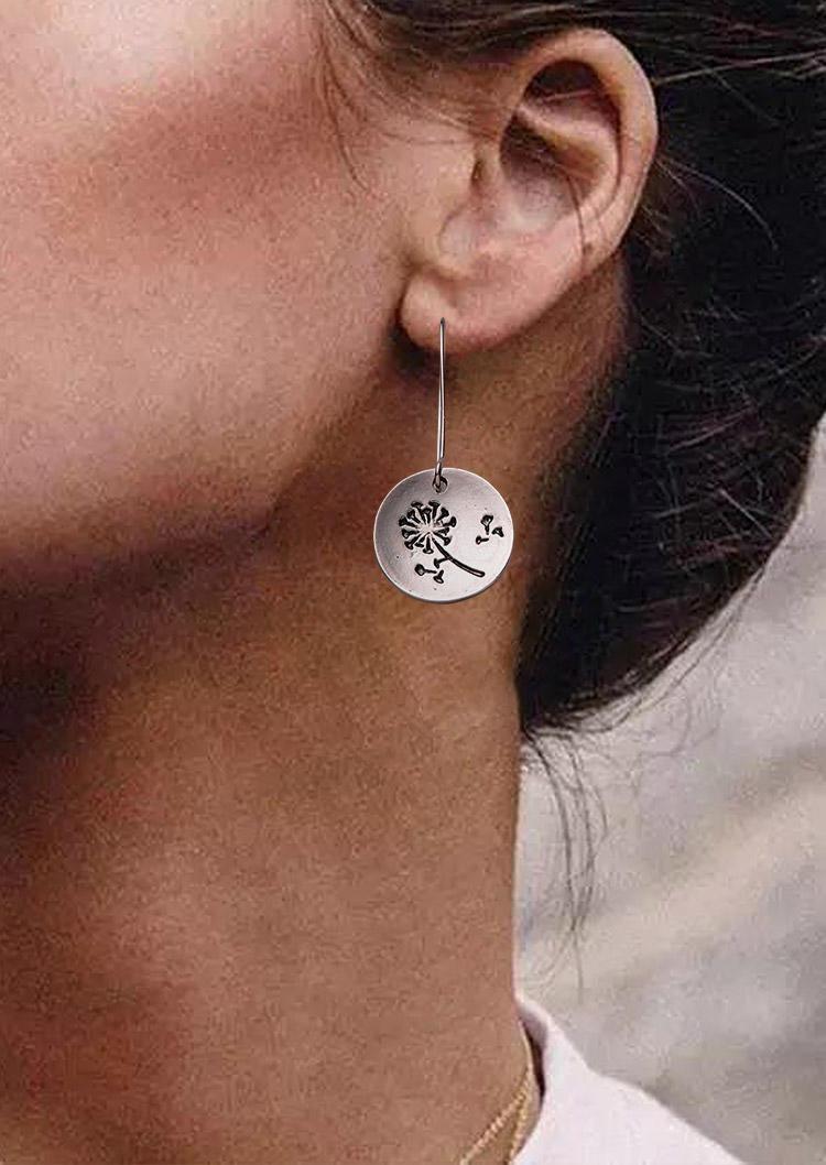 Vintage Dandelion Hollow Out Alloy Earrings