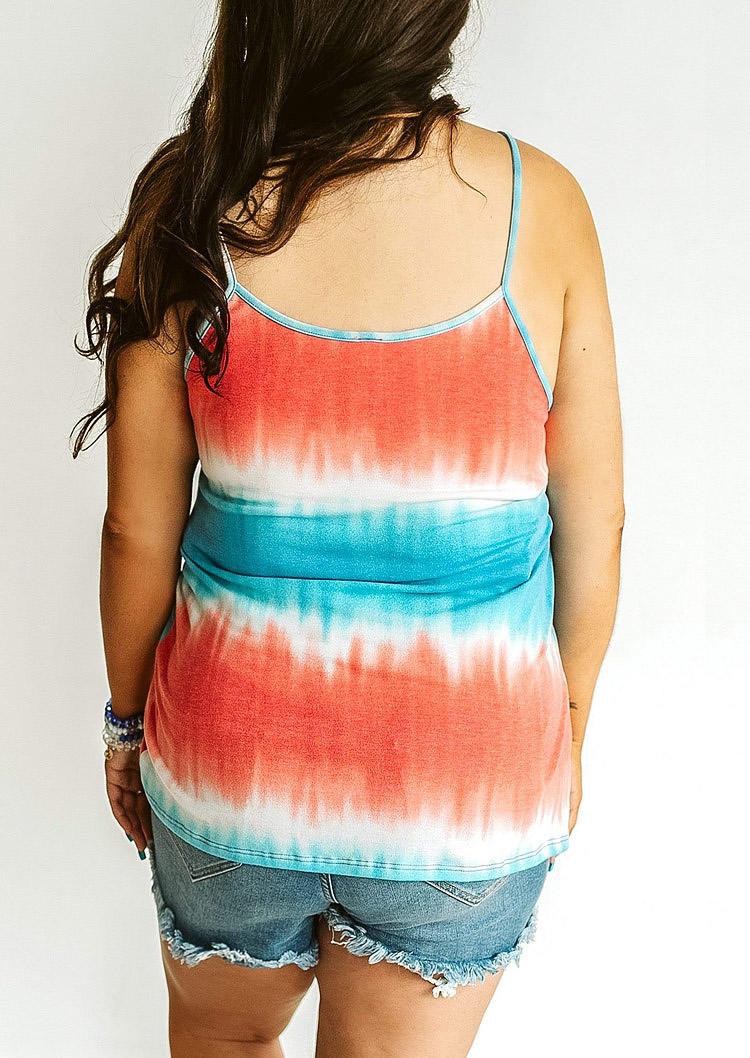 Plus Size Tie Dye Casual Camisole