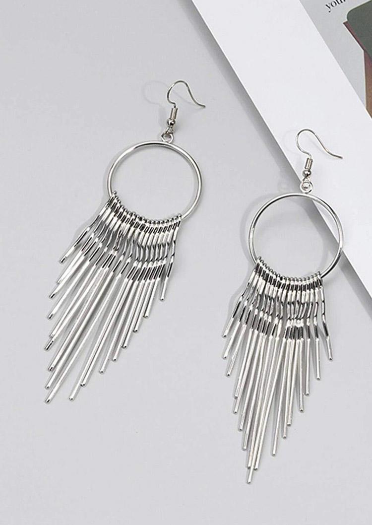 Metal Tassel Hook Earrings