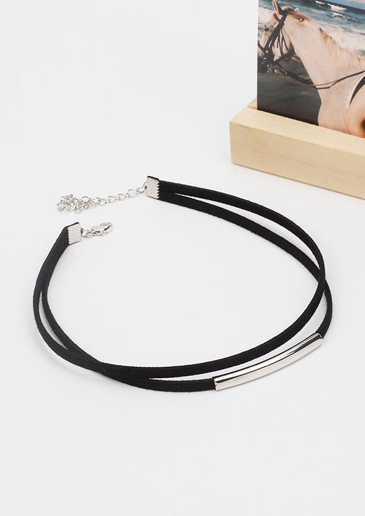 Adjustable Dual-Layered Choker Necklace