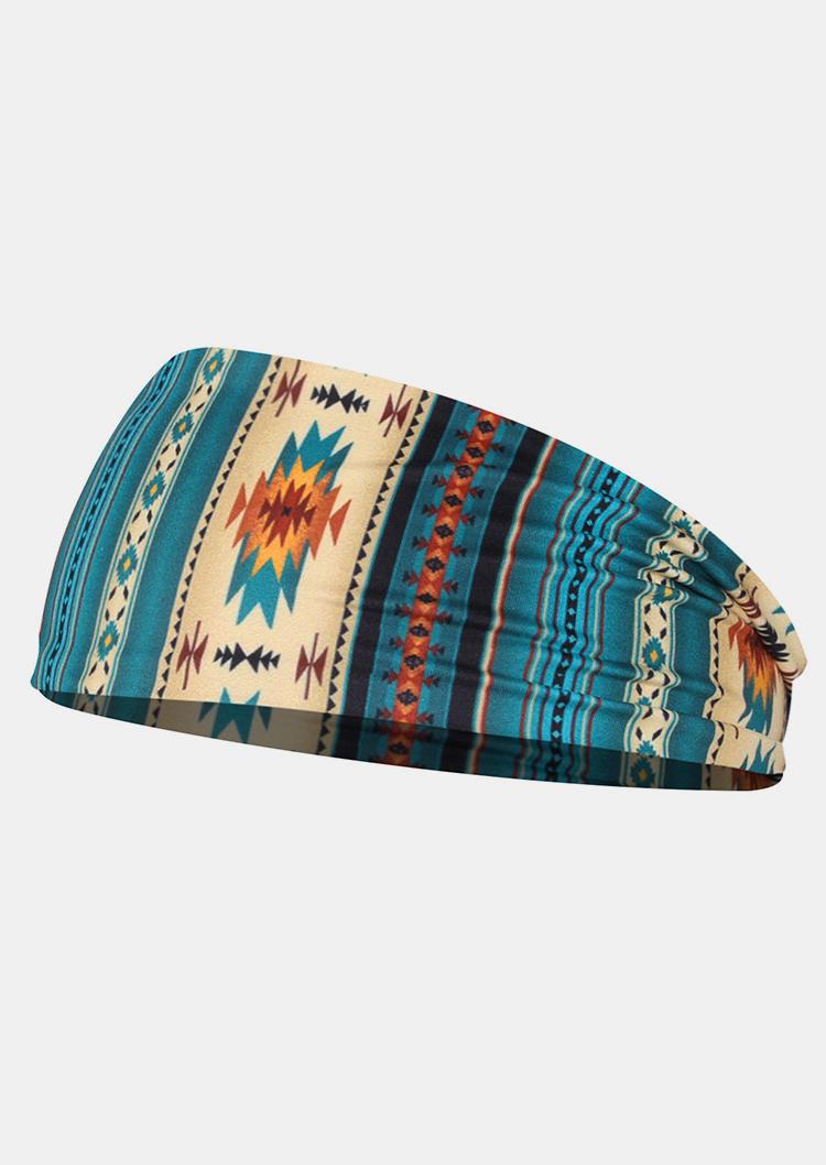 Aztec Geometric Western Sport Wide Headband