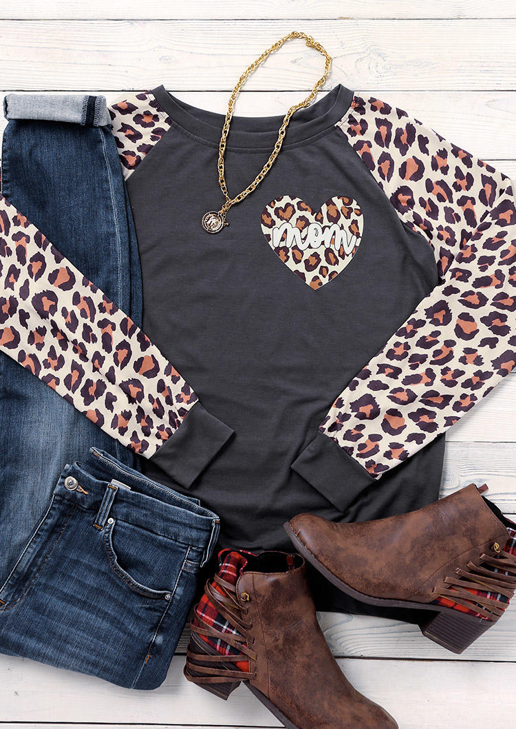 Leopard Mom Long Sleeve Sweatshirt