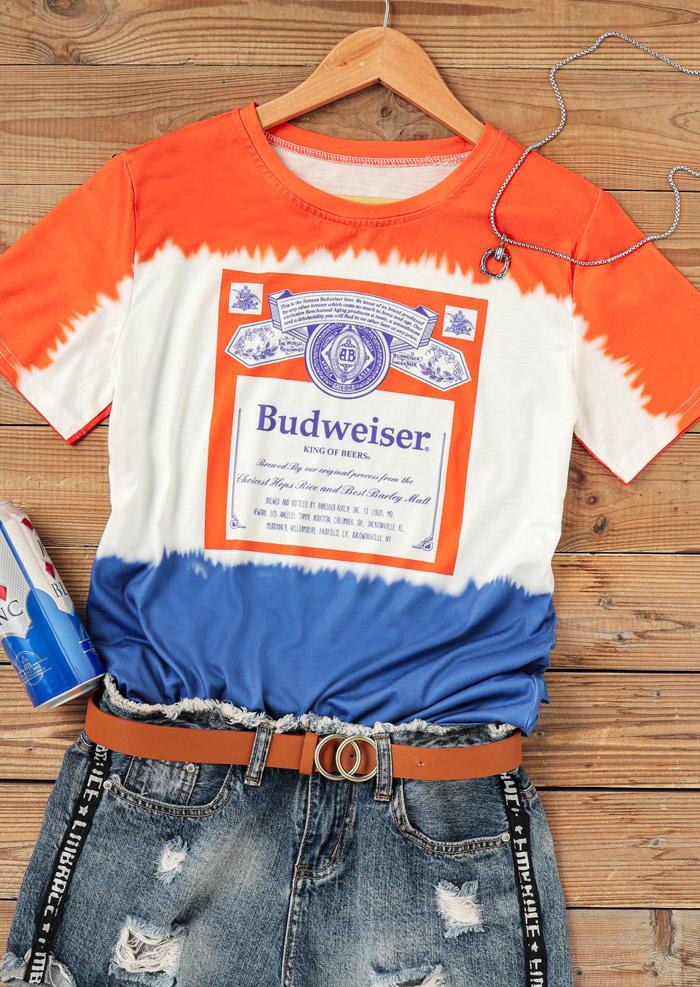 Budweiser King Of Beers Tie Dye T-ShirtTee